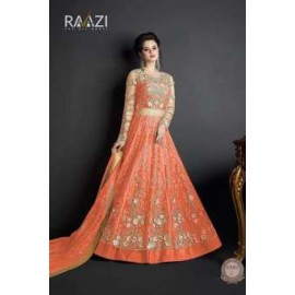 Semi-Stitched Beautiful Wedding and Bridal Designer    Full Length Anarkali Style Gown