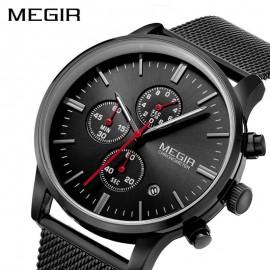 MEGIR Luxury Chronograph Stainless Steel Watch for Men