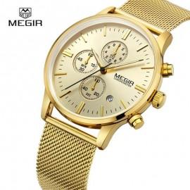 MEGIR Luxury Chronograph Stainless Steel Watch