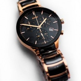 RADO Switzerland Centrix Chronograph Ceramic Watch-Rose/Gold