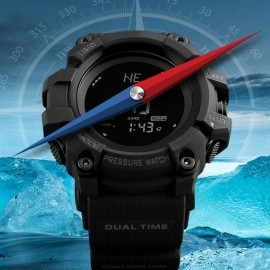SKMEI MultiFunction Watch with Digital Compass and Barometer – Black