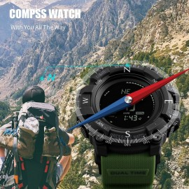 SKMEI MultiFunction Watch with Digital Compass and Barometer – Green