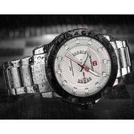 NaviForce NF9085 Stainless Steel Watch – Black/Silver