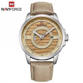 Naviforce NF 9151 Analog Quartz Watch-Silver/Beige