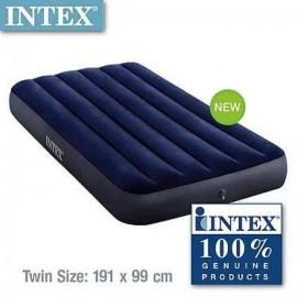 Intex 64757 Twin Sized Classic Downy Airbed   Free Intex Air Pump