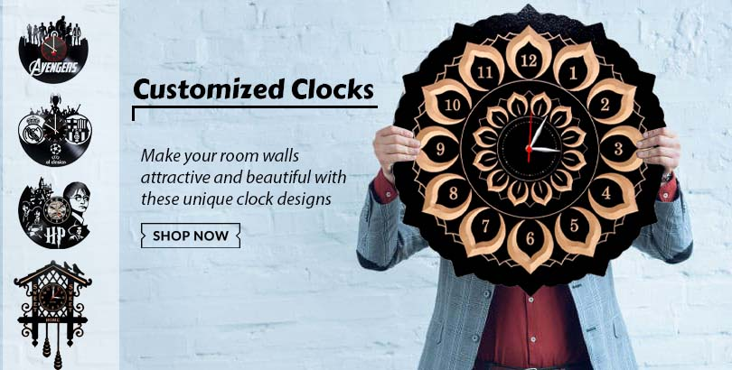 Get best quality customized wooden clocks from Choicemandu Online Shopping Site