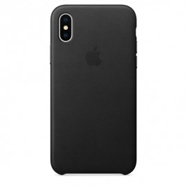 Apple Leather Case for iPhone X – Black