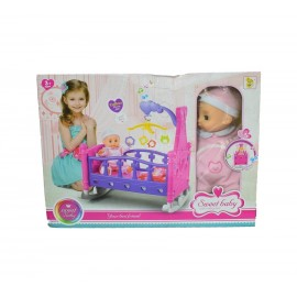 Sweet Baby with Rocking Bed / Kids Toys