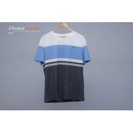White blue grey colour,round neck t-shirt