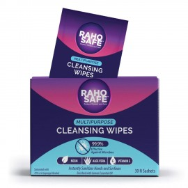 Raho Safe Multi Purpose Cleansing Wipes - Pack of 30 Sachets