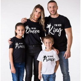 Family Set Customize T-shirt | King,Queen Princess and Prince Tshirt