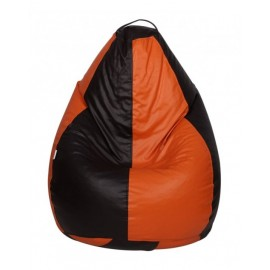 Nudge 3XL Black/Orange Classic Bean Bag   A must have for your living / bed room