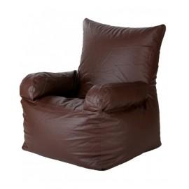 Nudge Arm Brown Bean Bag Sofa Chair