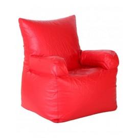 Nudge Arm Red Bean Bag Sofa Chair