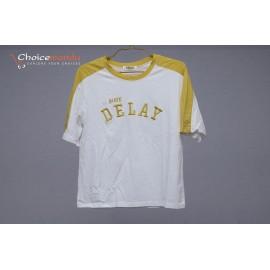 Yellow And White half sleeve T-shirt